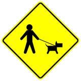 Sinal da zona da caminhada do cão Foto de Stock