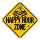 Sinal da zona do happy hour ilustração stock