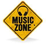 Sinal da zona da música ilustração do vetor