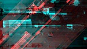 Sinal danificado quebrado da transmissão da televisão imagens de stock