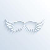 Sinal das asas com sombra Foto de Stock