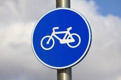 Sinal das bicicletas Imagens de Stock Royalty Free