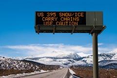 Sinal das condições de estrada Imagem de Stock