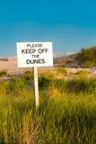 Sinal das dunas da praia Imagens de Stock Royalty Free