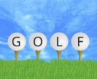 Sinal das esferas de golfe Imagens de Stock Royalty Free