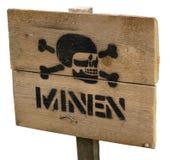 Sinal das minas antipessoais Imagem de Stock Royalty Free