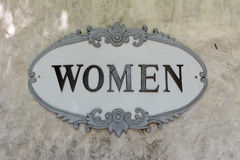 Sinal das mulheres Foto de Stock Royalty Free
