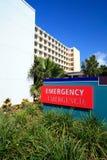 Sinal das urgências do hospital Fotografia de Stock
