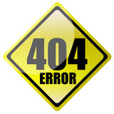 sinal de 404 erros Imagem de Stock Royalty Free