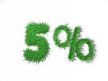 sinal de 5% Fotografia de Stock