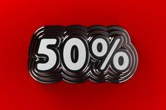 Sinal de 50 por cento Imagens de Stock