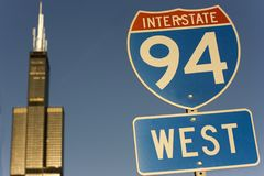 Sinal de 90 e de 94 de um estado a outro Fotos de Stock Royalty Free