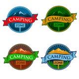 Sinal de acampamento da zona Imagem de Stock Royalty Free