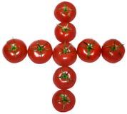 Sinal de adição do tomate Fotos de Stock Royalty Free