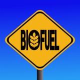 Sinal de advertência do combustível biológico ilustração do vetor