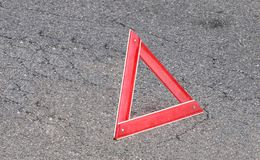 Sinal de advertência do triângulo Fotos de Stock Royalty Free