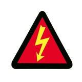 Sinal de alta tensão, símbolo Fotos de Stock
