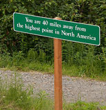 Sinal de America do Norte do ponto o mais elevado Fotos de Stock