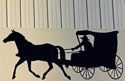 Sinal de Amish fotos de stock royalty free