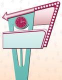 Sinal de anúncio retro ilustração do vetor