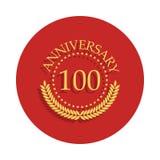 sinal de 100 aniversários Elemento do sinal do aniversário Ícone superior do projeto gráfico da qualidade no estilo do crachá Um  ilustração do vetor