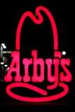 Sinal de Arby Fotografia de Stock