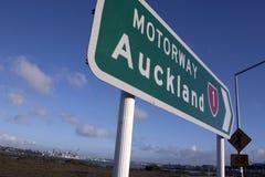 Sinal de Auckland Fotografia de Stock Royalty Free