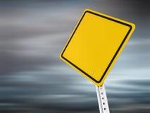 Sinal de aviso Fotografia de Stock