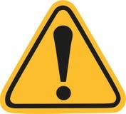 Sinal de aviso amarelo com exclamação Mark ilustração stock