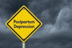 Sinal de aviso após o parto da depressão Imagens de Stock Royalty Free
