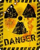 Sinal de aviso atômico afligido da radiação do grunge, símbolo, ilustração do vetor ilustração royalty free