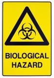 Sinal de aviso biológico do perigo Fotografia de Stock