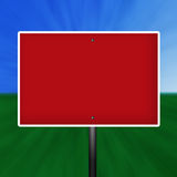 Sinal de aviso branco vermelho em branco Ilustração Stock