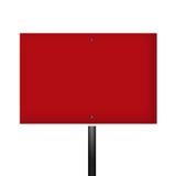 Sinal de aviso branco vermelho em branco Fotografia de Stock Royalty Free