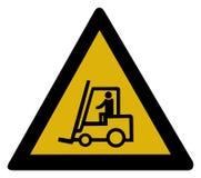 Sinal de aviso - caminhão de forklift ilustração stock