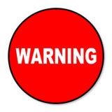 Sinal de aviso circular ilustração royalty free