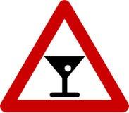 Sinal de aviso com álcool ilustração royalty free