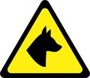 Sinal de aviso com cão ilustração royalty free