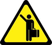 Sinal de aviso com carona ilustração stock