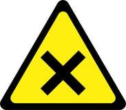 Sinal de aviso com interseção ilustração do vetor