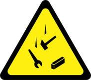 Sinal de aviso com objetos de queda ilustração do vetor