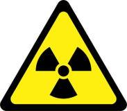 Sinal de aviso com radiação ilustração royalty free
