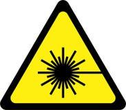 Sinal de aviso com raio laser ilustração stock