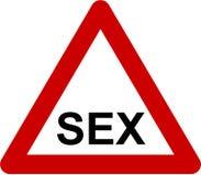 Sinal de aviso com sexo ilustração royalty free
