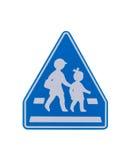 Sinal de aviso da escola Foto de Stock Royalty Free
