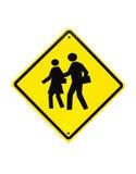 Sinal de aviso da escola do tráfego) imagem de stock royalty free