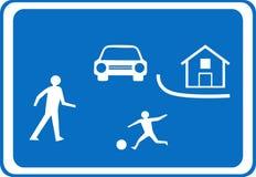 Sinal de aviso da estrada ilustração stock