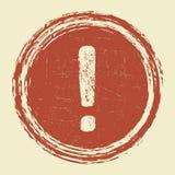 Sinal de aviso da exclamação do Grunge Imagem de Stock