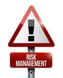 sinal de aviso da gestão de riscos Fotografia de Stock