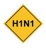 Sinal de aviso da gripe dos suínos Fotos de Stock Royalty Free